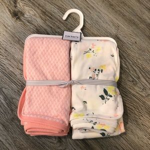 """New Carters Baby Swaddle Blankets 35""""x35"""""""